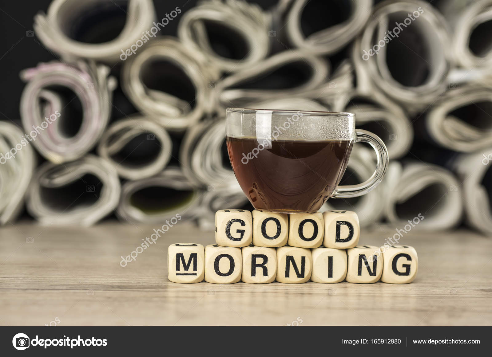 Good Morning With Coffee And Newspaper  Stock Photo  Purpleanvil