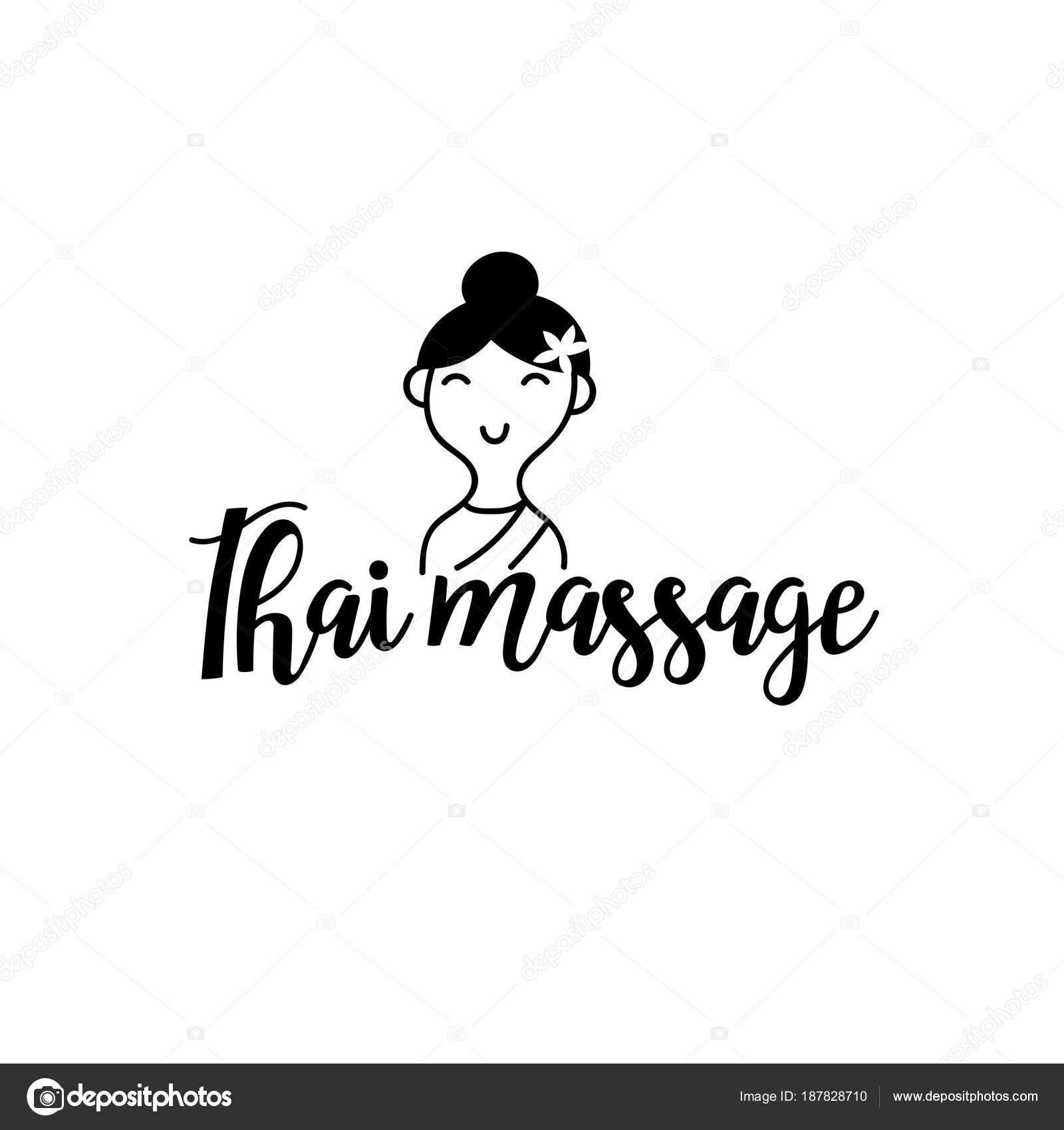 Thai Massage Vektor Logo Vorlage Stockvektor Whynotmecz 187828710
