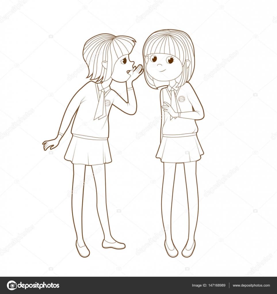 Imágenes De Dos Personas Comunicándose Para Colorear Dos
