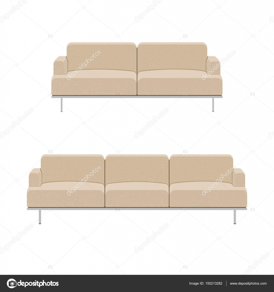 Sofa for modern living room — Stock Vector © ele nik