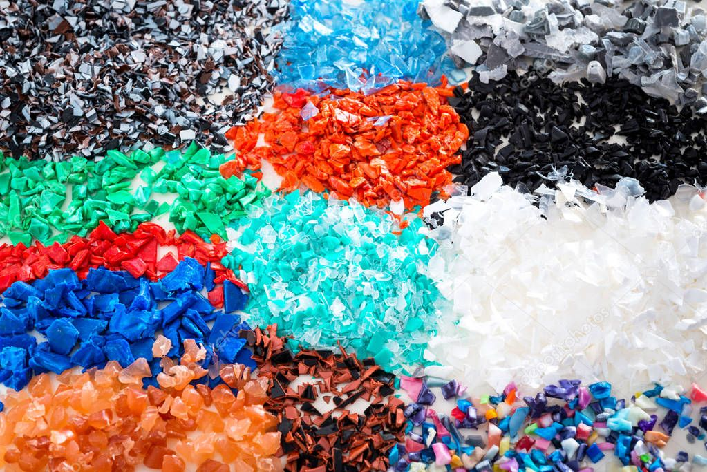 Different regrind polymers