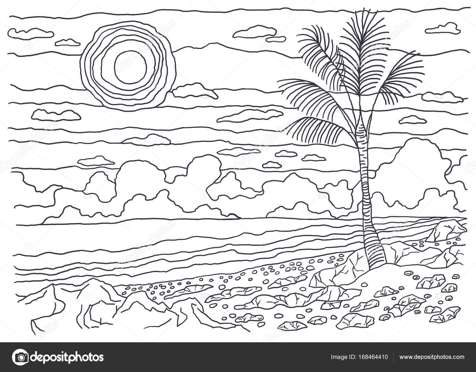 Coloring Books For Children And Adults An Image Of Nature