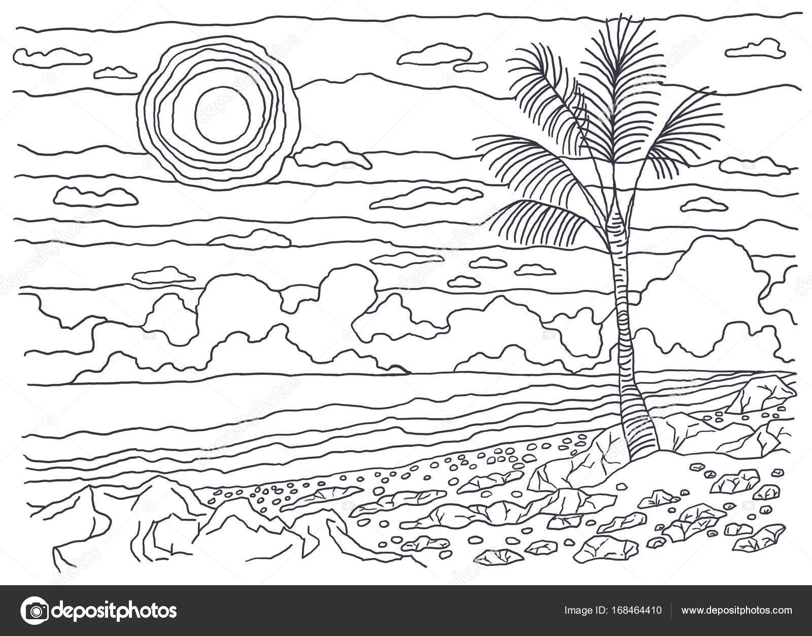 livros de colorir para crianças e adultos uma imagem da natureza