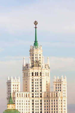 Kotelnicheskaya Embankment Building is one of seven Stalinist skyscrapers. Moscow, 20 September 2017