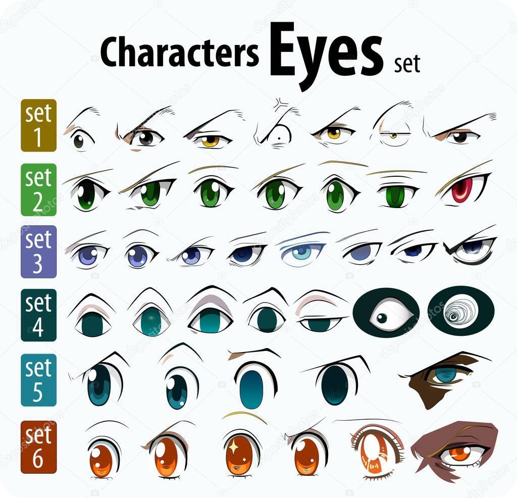 conjunto de dibujos animados los ojos — Vector de stock © magemasher ...