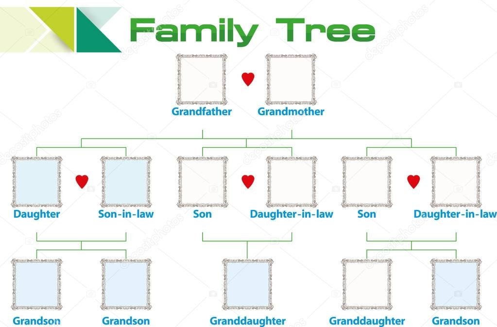 vorlage stammbaum stockvektor magemasher 129513610. Black Bedroom Furniture Sets. Home Design Ideas