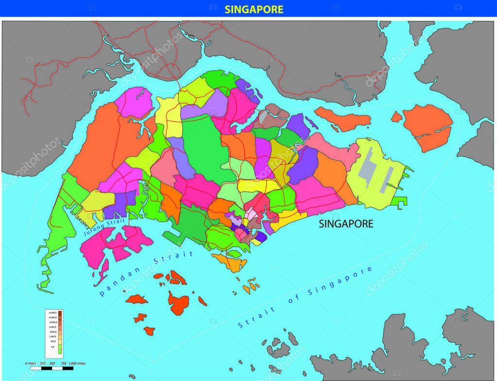 mapa de singapura Vetor mapa de Singapura — Vetor de Stock © magemasher #129529952 mapa de singapura