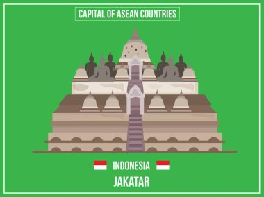Vectors illustration of Capital of Indonesia Country