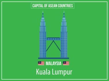 Vectors illustration of Capital of Malaysia Country