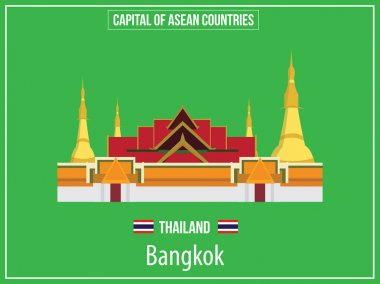 Vectors illustration of Capital of Thailand Country
