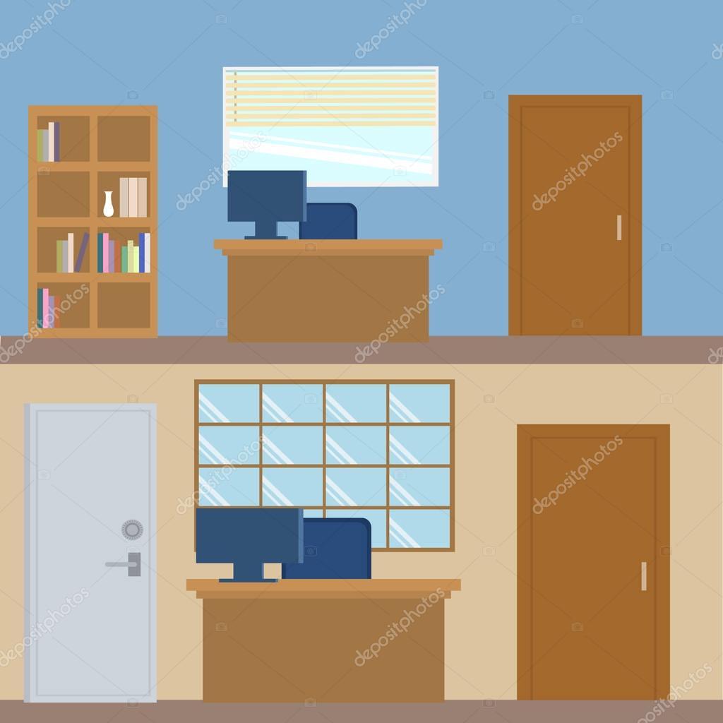 moderne Büro-Interieur — Stockvektor © Cathal_Shtadler #130221380