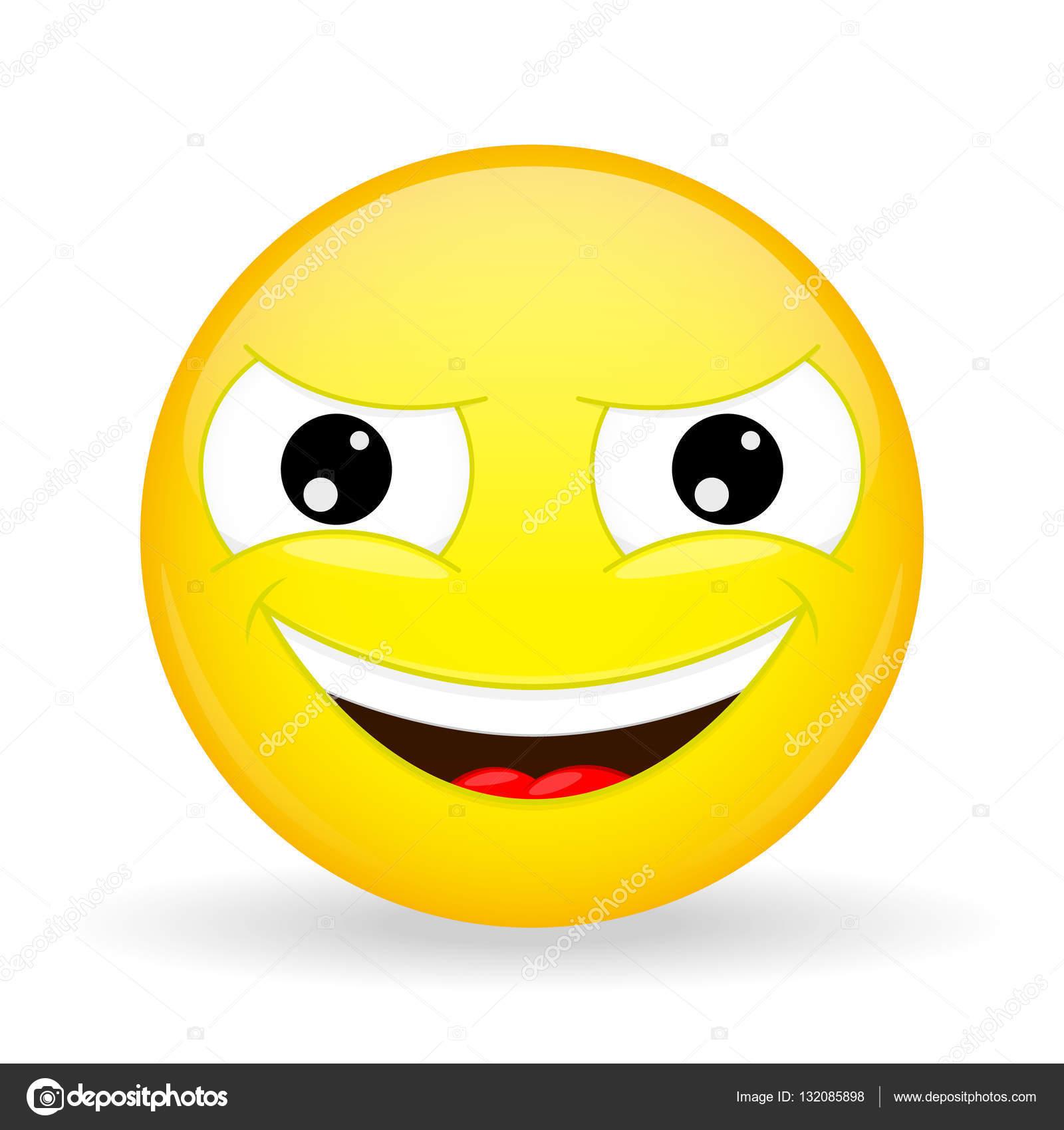 Perfidamente ghignante emoji emozione di gongolare emoticon