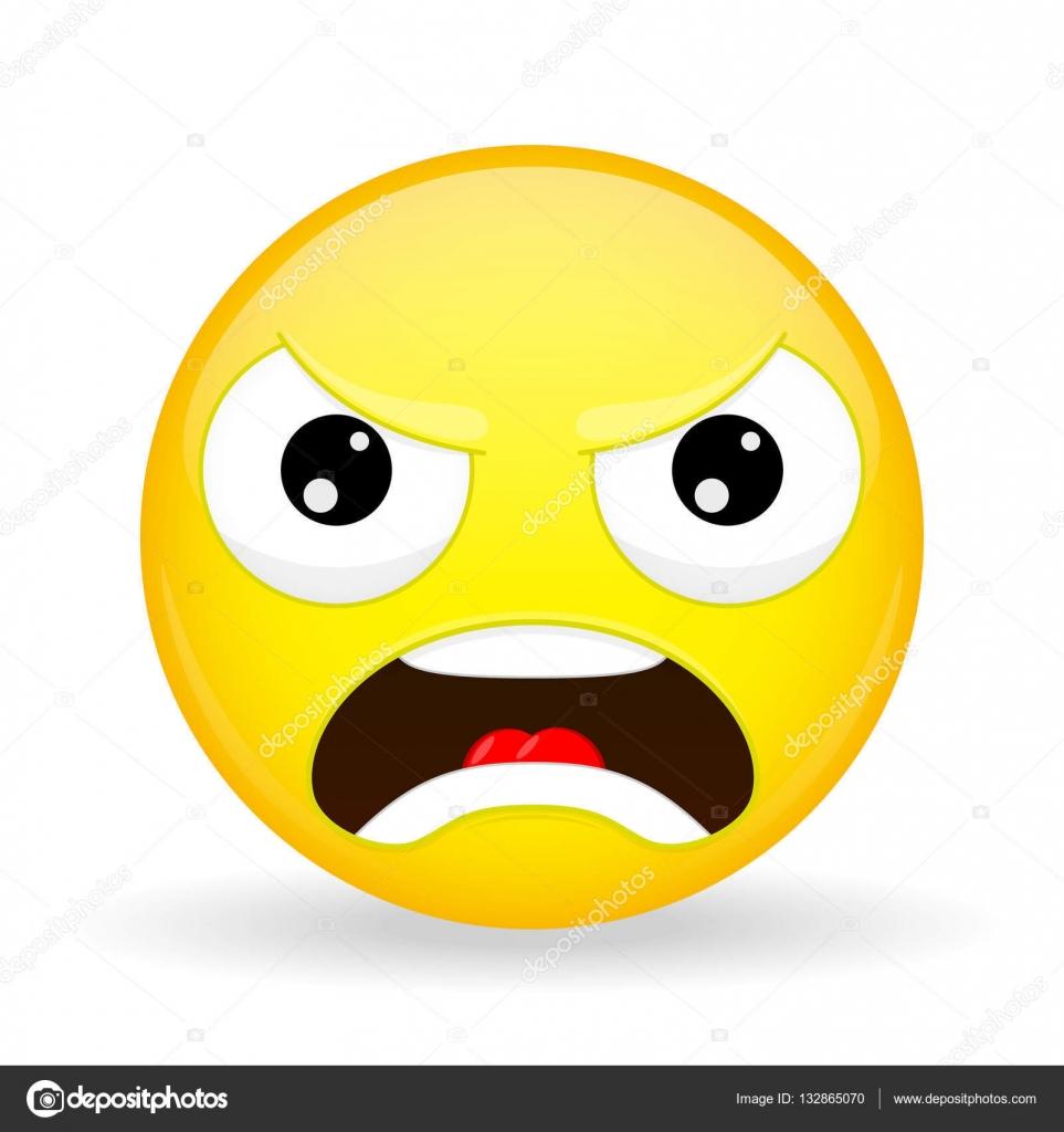 Emoji arrabbiato emozione di rabbia emoticon male