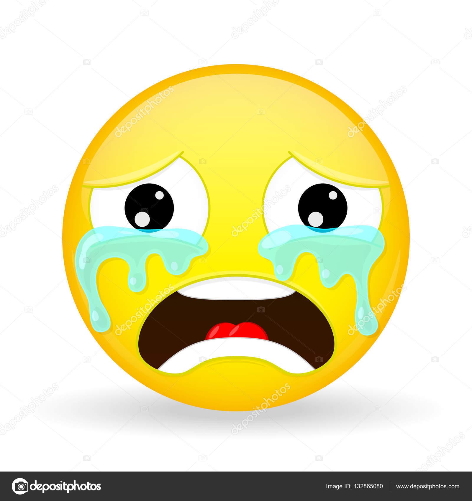 emoji chorando emoção de tristeza emoticon chorando estilo de
