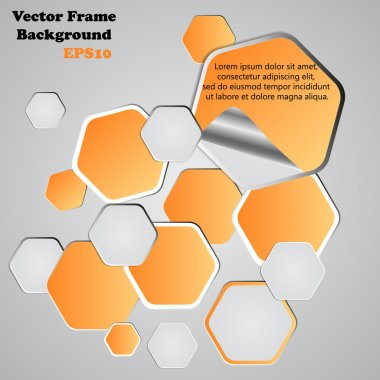 Background polygons cut paper- design template. Vector illustrat