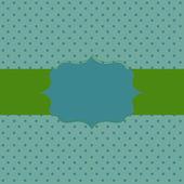 Rámeček na pozadí papírové s puntíky. Vektor illustrati