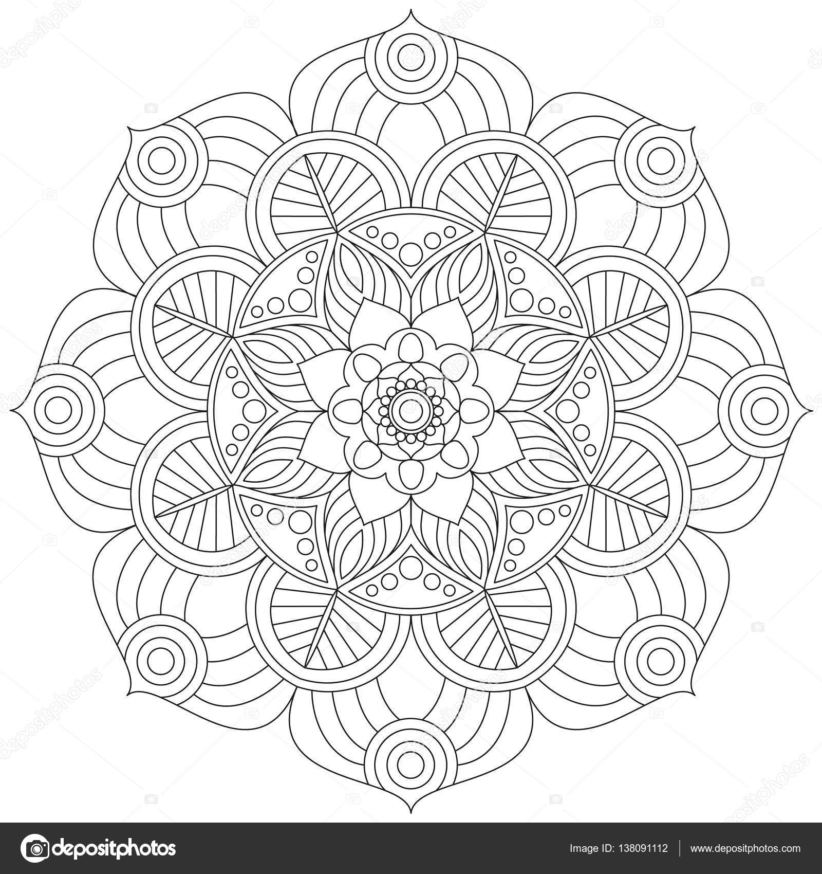 pattern traditional coloring ornament
