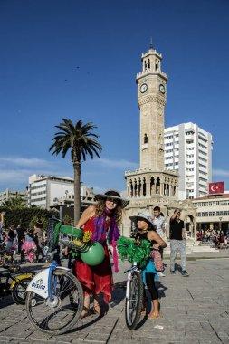 09.24.2017,konak,izmir,turkey,Izmir fancy women cycling festival