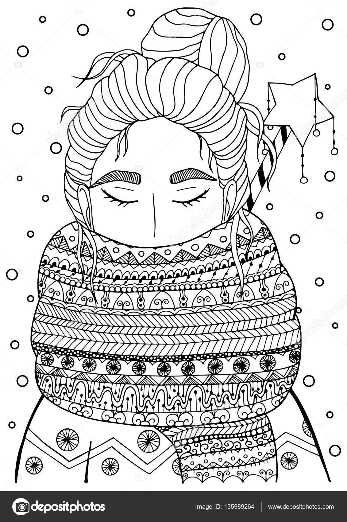 Dibujos: adultos navidad | Vector Navidad ilustración zentangl
