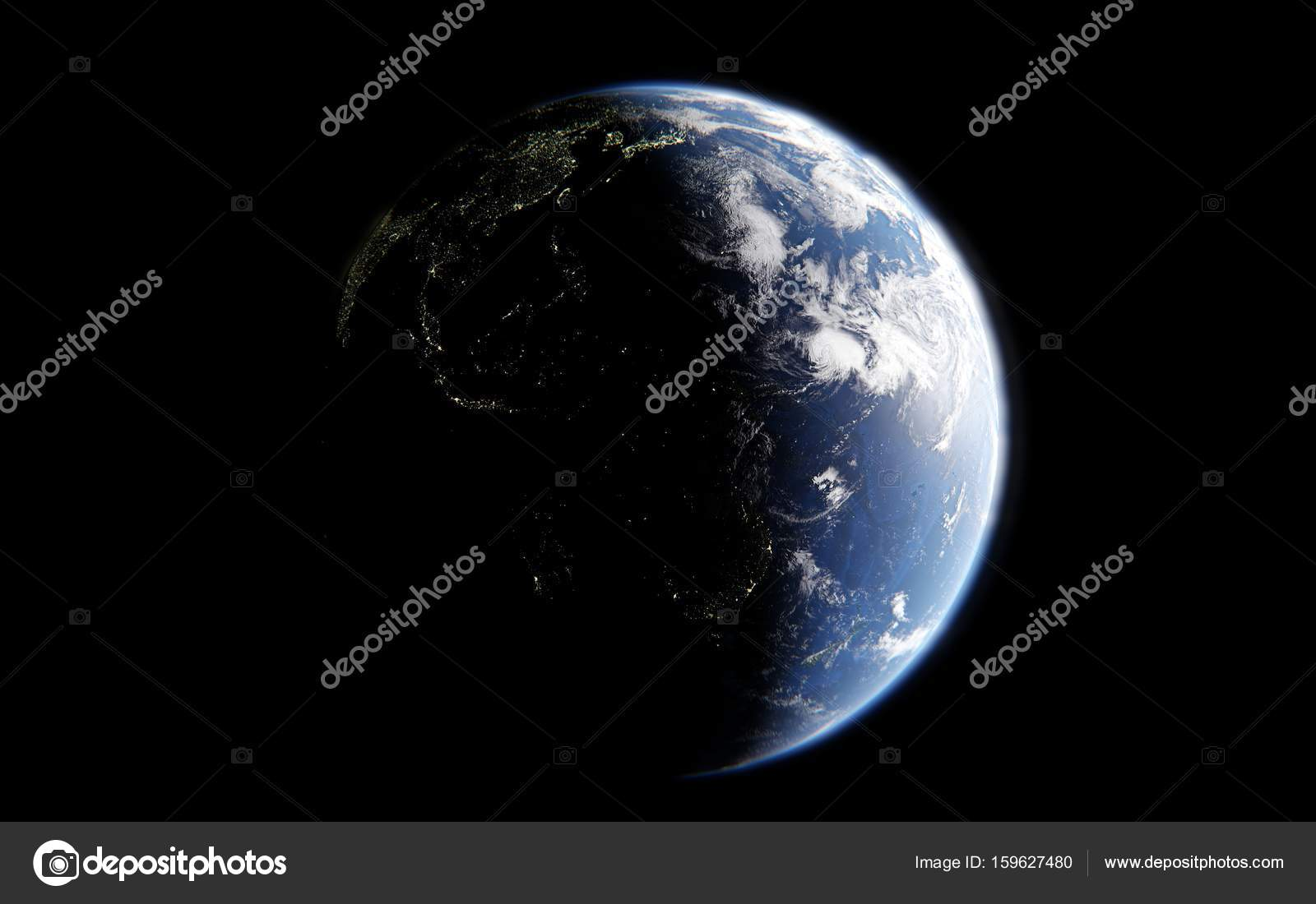 3d rendering of the image of the planet earth from space details 3d rendering of the image of the planet earth from space details of the planet earth view of america with luminous cities the elements of the image are voltagebd Image collections