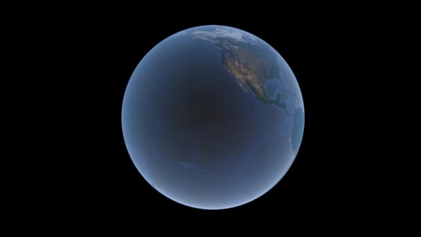 Blue earth globe revolves on a black background, isolate, 3d rendering, elements of this image furnished by NASA