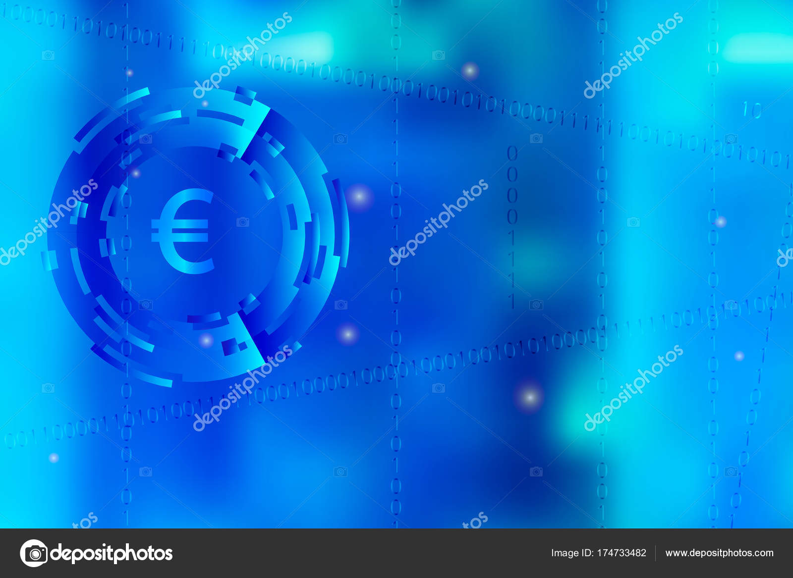 Vector Picture With Blurred Background On For Illustration Of