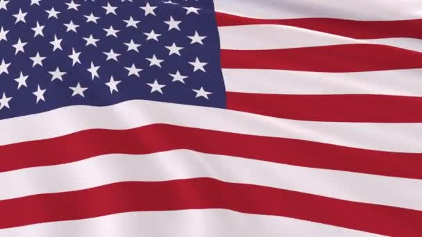 Flag of the United States of America fluttering in the wind, 3d illustration