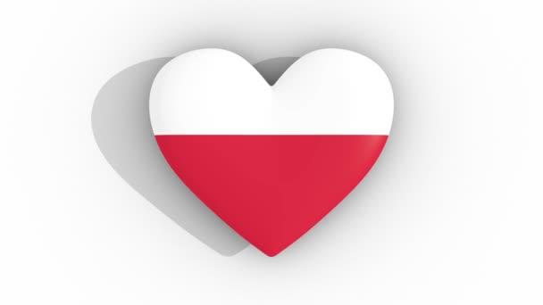 Pulsierende Herz Den Farben Der Flagge Von Polen Auf Einem ...
