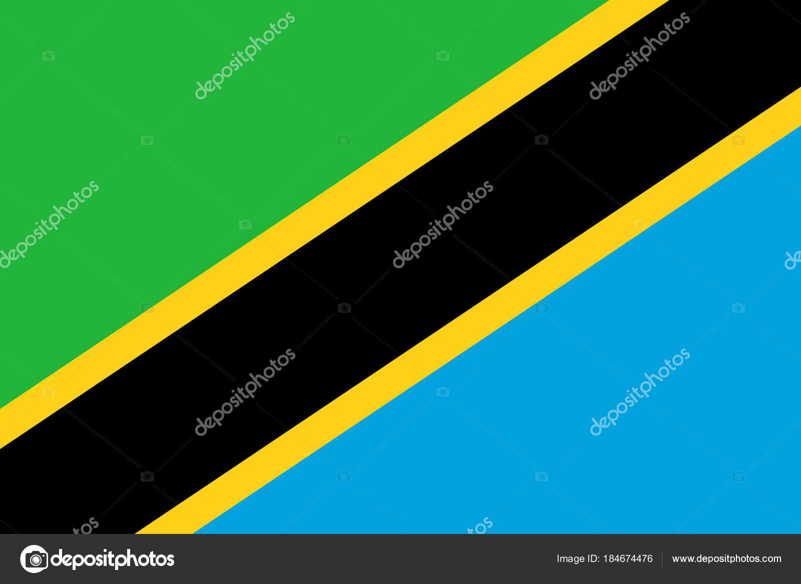 Flagge In Den Farben Von Tansania, Vektor Bild U2014 Stockvektor