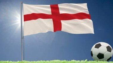 Bandera De Inglaterra Animación 3d Wallpaper Vídeo De