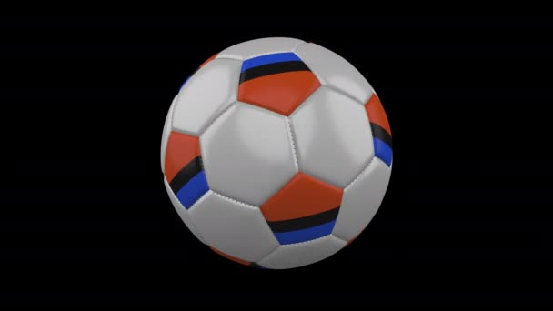 Chagos Islands flag on ball rotates on alpha transparency, loop