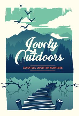 Vector poster lovely outdoors stock vector
