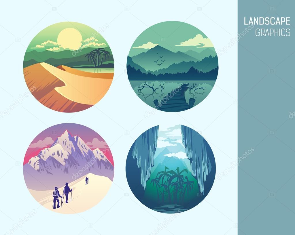 Set abstract landscape