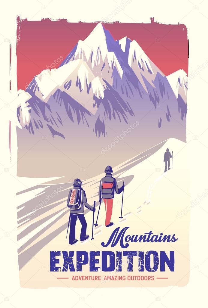 poster mountain climbing
