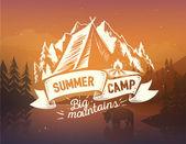 Fotografie Letní tábor typografie design