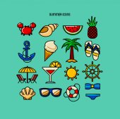 16 summer color icons