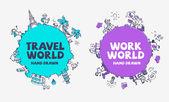 cestování a cestovní ruch pozadí