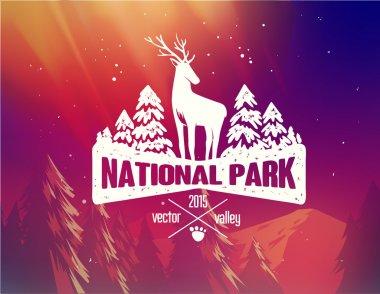 National park typography design