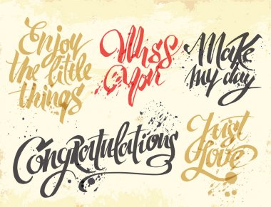 Hand-drawn lettering for cards