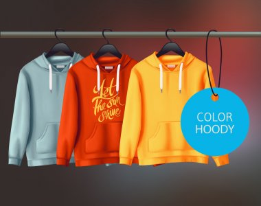 Color unisex hoody design