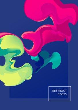 Abstract spots. Liquid inks