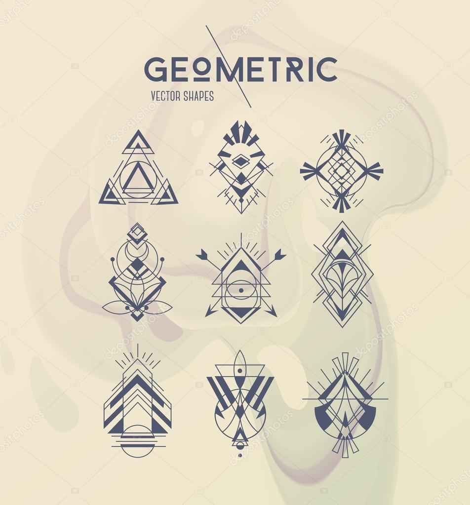 Geometrische moderne Design-Elemente — Stockvektor © cyanart #128458444