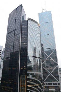 """Картина, постер, плакат, фотообои """"the high skyscrapers of hong kong"""", артикул 156505942"""