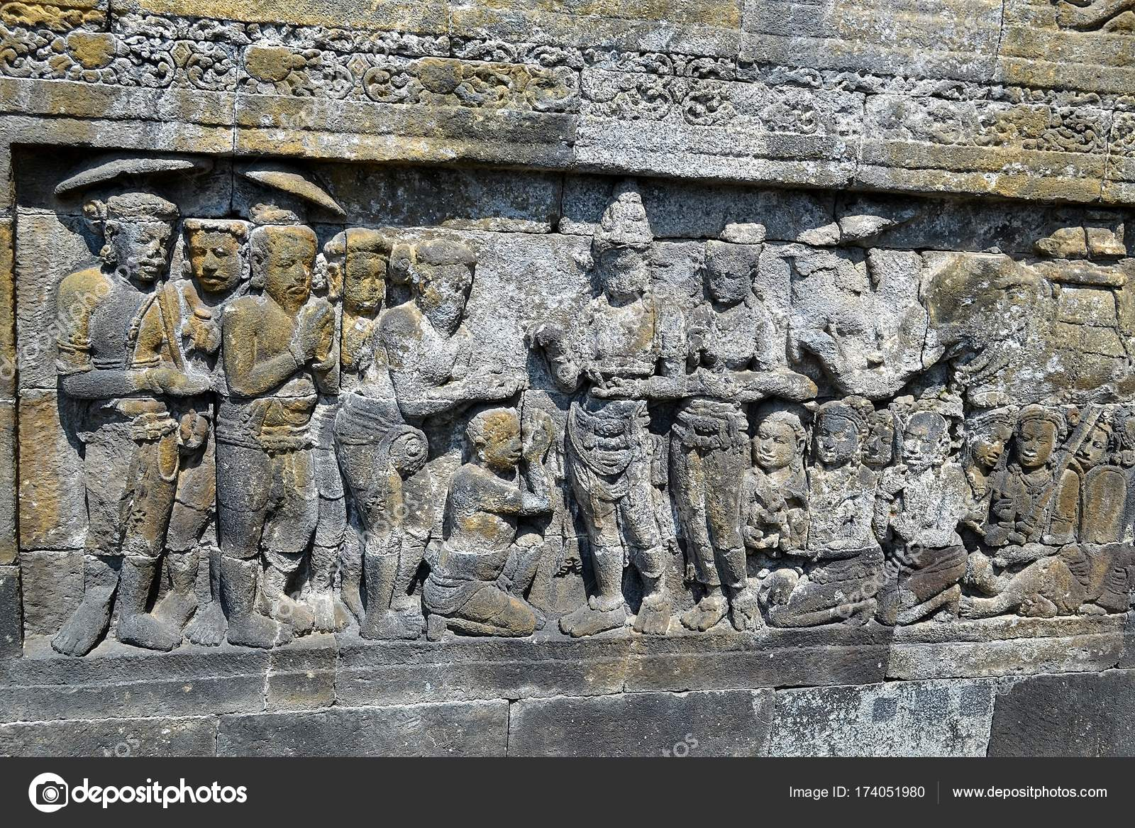 Traditional indonesian stone carving java u stock photo alex nat