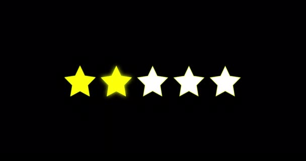 5 yellow stars rating sign