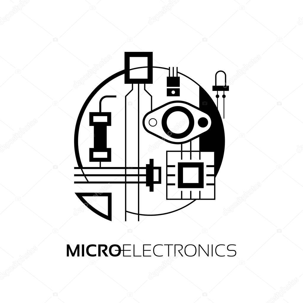componentes electr u00f3nicos  el signo y el s u00edmbolo para la creaci u00f3n de dise u00f1o de logotipo como el