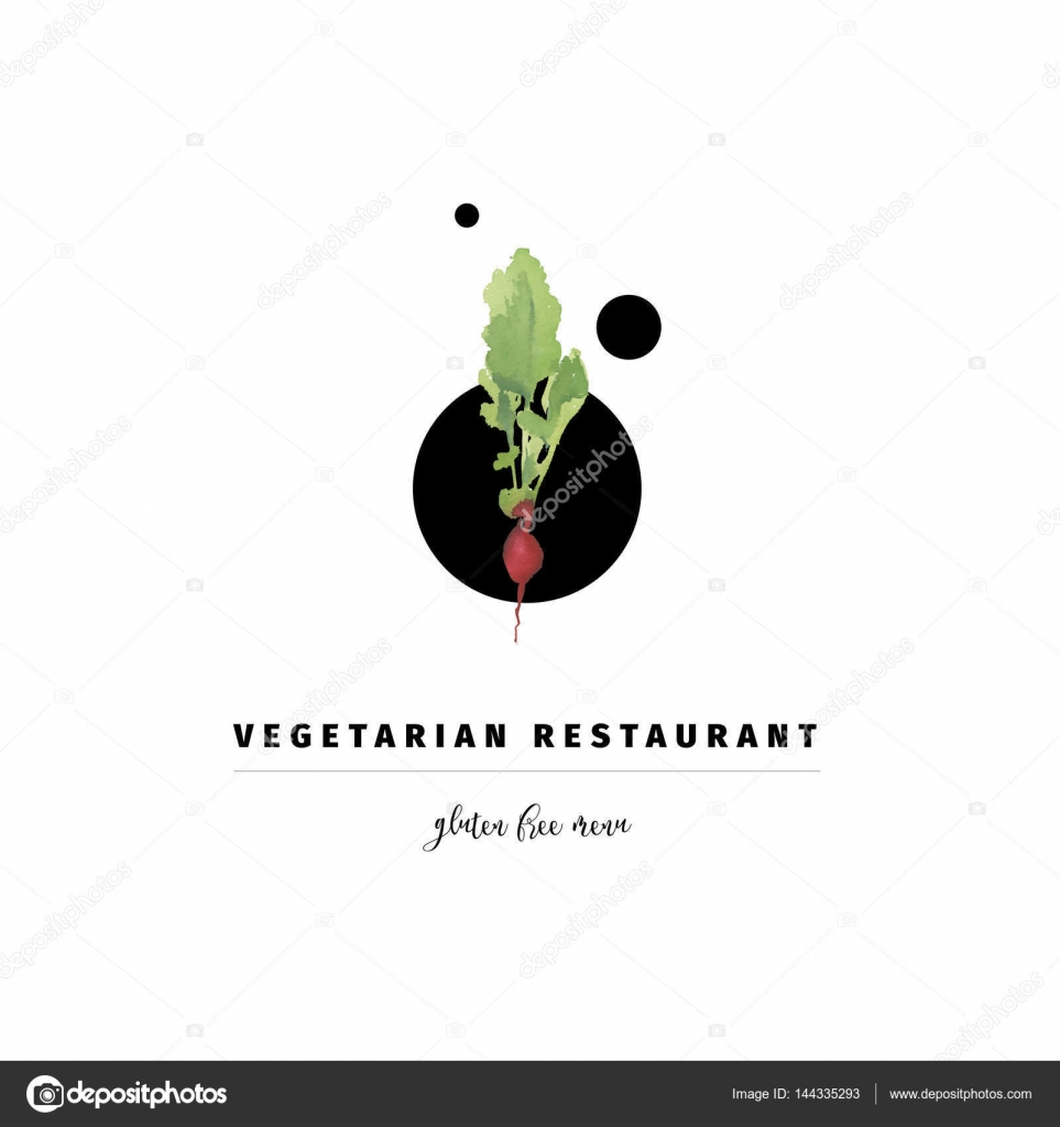 Vector Logo Design Template And Emblem Made With Watercolour