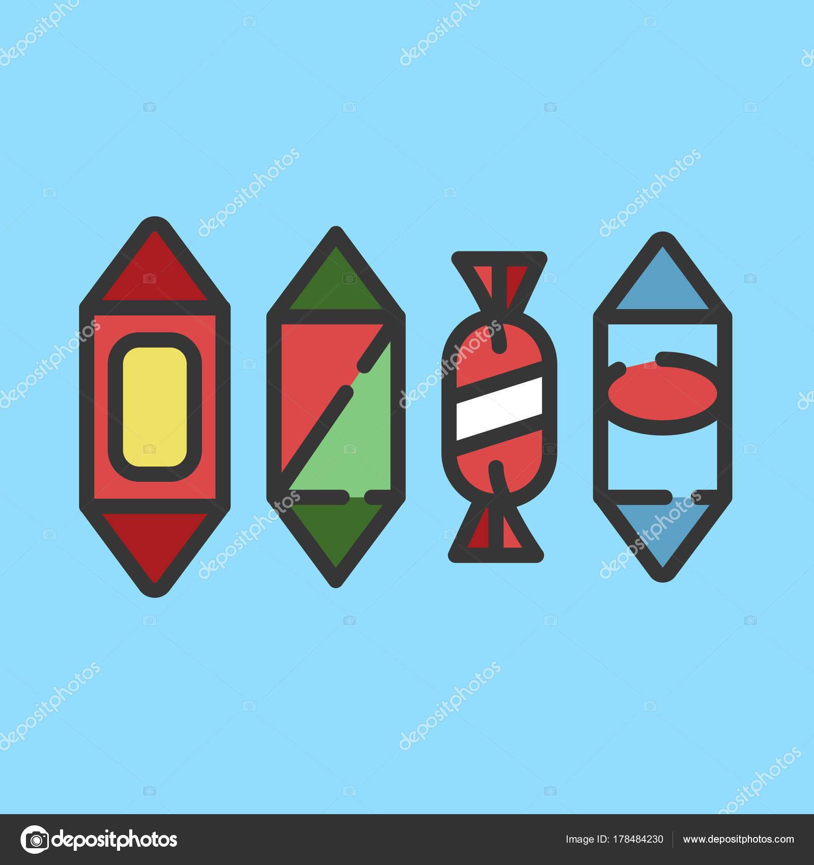 26b8d8401d Bonbóny Candy Kategorie Ikony Vektorové Ilustrace Linie Pro Obchod Symbolem  — Stockový vektor