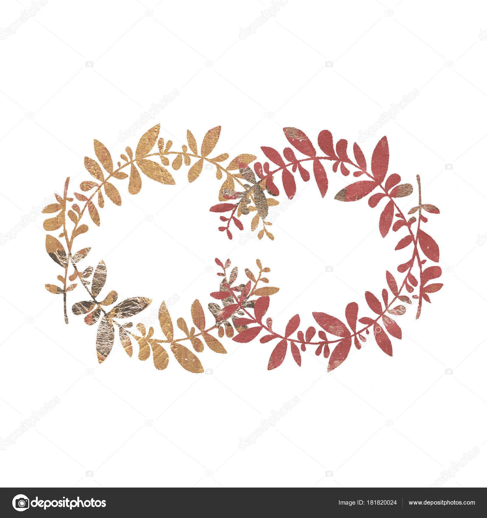 Bronze Wedding Rustic Wreath Rural Restaurant Banner Background Natural Stock Photo