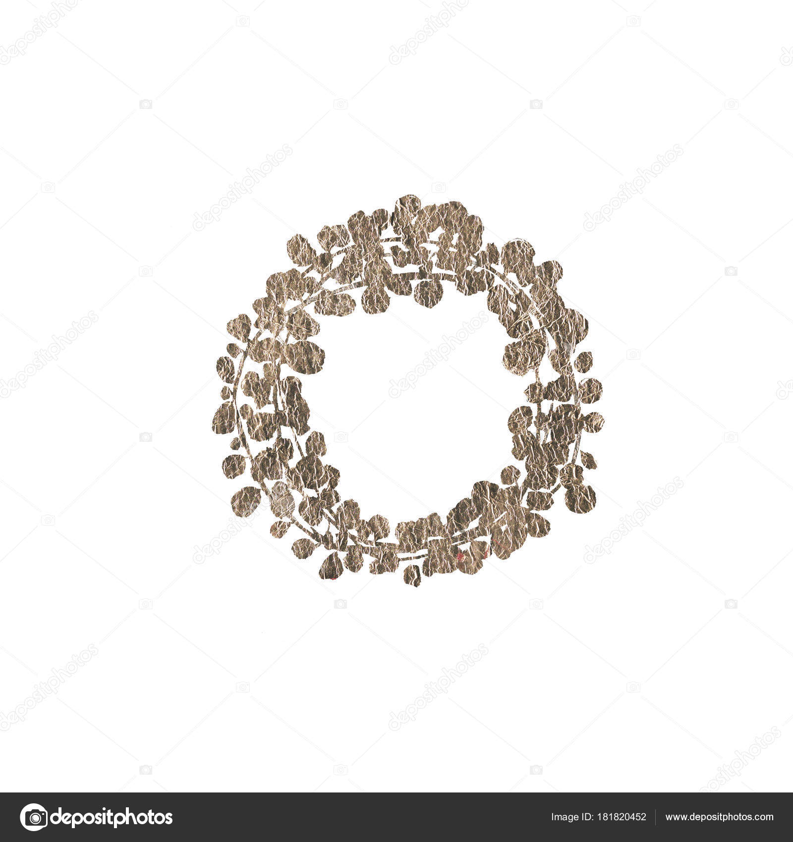 Silver Wedding Rustic Wreath Rural Restaurant Banner Background Natural Metallic Stock Photo